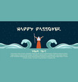 moses separate sea for passover holiday over night vector image