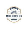 Motocross logo template design element