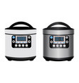 multicooker - kitchen appliances for cooking vector image vector image
