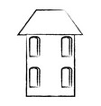 old house icon vector image vector image