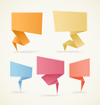 paper speech clouds vector image