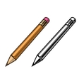 Pensil set colored and black vector image vector image
