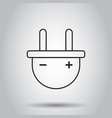 plug socket icon in line style on isolated vector image