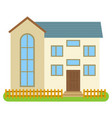 private house with gray walls vector image vector image