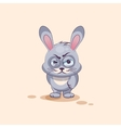 Rabbit10isolated Emoji character cartoon Gray vector image vector image