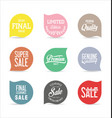 sale price tag modern design collection 10 vector image vector image