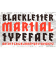 sanserif font in black letter style vector image vector image