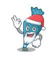 santa pastrybag mascot cartoon style vector image vector image