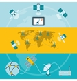 Satellite icons horizontal banners vector image vector image