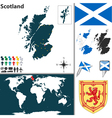 Scotland map world vector image vector image