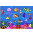 sea life background vector image vector image