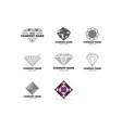 set diamond jewellery logo design template vector image vector image