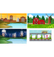 set different landscape vector image vector image