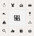 set of 13 editable trade icons includes symbols vector image vector image