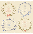 Set of hand drawn wedding wreaths vector image vector image