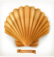 shell 3d icon vector image vector image