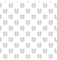 simple horseshoe seamless pattern with various vector image vector image