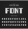sketch bold font and alphabet chalk modern vector image vector image