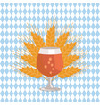 snifter beer in transparent glassware vector image
