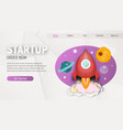 startup landing page vector image vector image