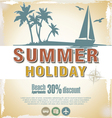 Summer retro background vector image vector image