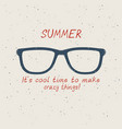 summer sunglasses in vintage style on sand vector image vector image