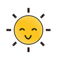 sun character isolated icon vector image vector image