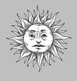 sun handmade vector image vector image