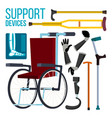 support devices wheelchair amputation vector image