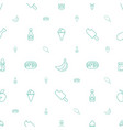 tasty icons pattern seamless white background vector image vector image
