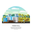 Timber Factory Template vector image vector image