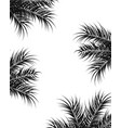 tropical design with black palm leaves and plants vector image vector image