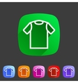 tshirt t-shirt tee icon flat web sign symbol logo vector image vector image