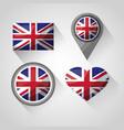 united kingdom places flag vector image