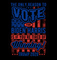 Vote for biden harris typography t shirt design