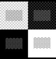 waves icon isolated on black white and vector image
