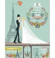 Wedding invitationGroombrideautumn wreath vector image vector image