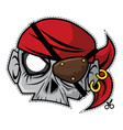 zombie invasion paper mask - the pirate vector image vector image