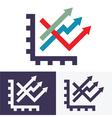 chart option icon vector image