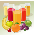 fruit and juice vector image