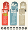 Modern design travel banner vector image