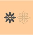 flower dark grey set icon vector image