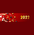 2022 happy new year banner holiday background vector image