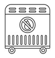 air heater icon outline style vector image vector image