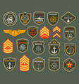army naval forces chevrons marines soldier icons vector image vector image