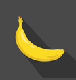 banana cartoon flat icondark background vector image vector image