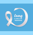 banner with clear white curly ribbon or loop and vector image vector image