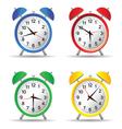 beauty clock vector image