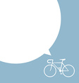 bicycle with speech bubble vector image vector image