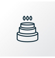 birthday cake icon line symbol premium quality vector image